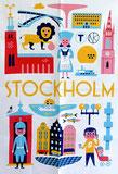 Küchenhandtuch mit Motiv Stockholm von Ingela P. Arrhenius