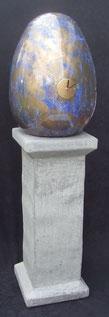 Eieruhr-Standuhr-Skulptuhr-Uhr-Kunstwerk-Skulptur von künstlerstein.de Mathias Rüffert