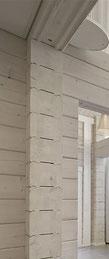 Blockhaus als Wohnhaus, Hotel, Bistro oder Restaurant.  Lamellenbalken,  275 mm stark  für Wohnhaus - Blockhäuser zum Wohnen - Blockhaus planen - Massivholzhaus - Hausbau - Allergikerhaus - Ökologische Bauweise