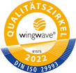 wingwave ISO 29993 TÜV-Siegel
