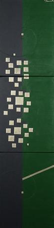 HANA 3   242mm*999mm   F4*3   2021 acrylic on canvas, wood