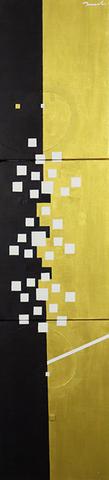 HANA 2   242mm*999mm   F4*3   2021 acrylic on canvas, wood