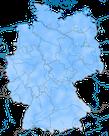 Karte zur Verbreitung der Wacholderdrossel in Deutschland im Winter.