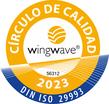 Sello de círculo de calidad wingwave (R)