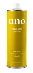 Bild: uno Olivenöl extra vergine aus Italien erhältlich in der Schweiz