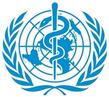 Das Logo der WHO,  die zur Prüfung der Verträglichkeit von Medikamenten für die Huntington-Krankheit mahnt