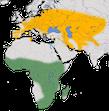 Karte zur Verbreitung der Zwergdommel (Ixobrychus minutus)