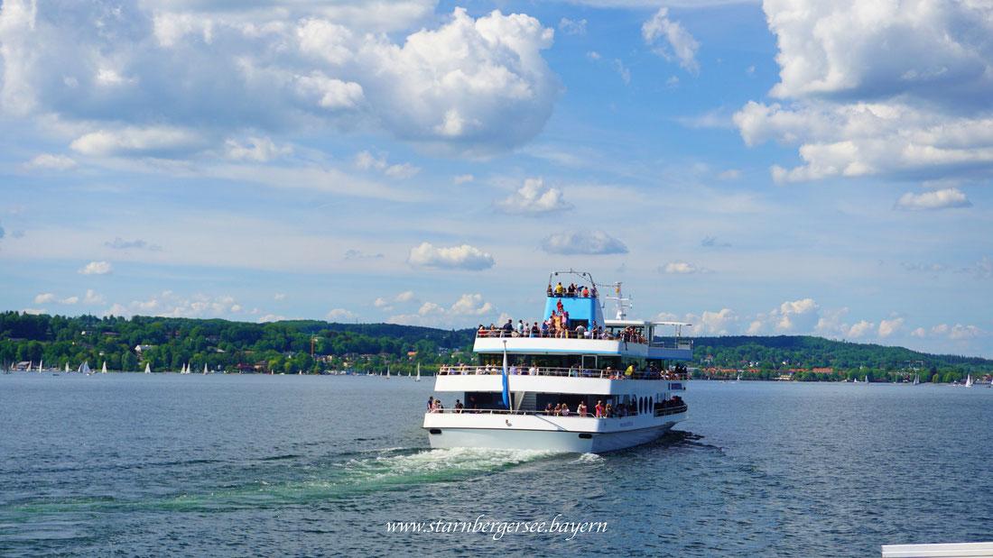 Schifffahrt auf dem Starnbergersee in Bayern