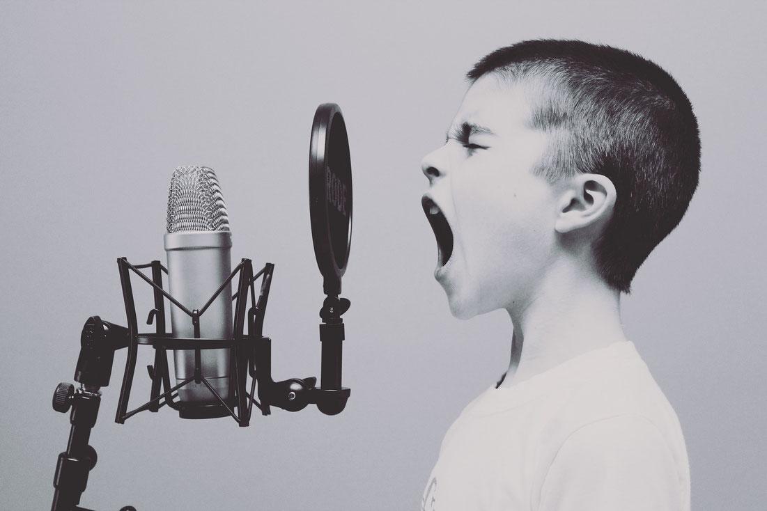 歌い手の録音方法
