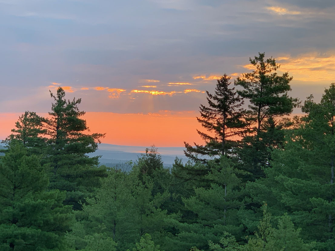 There have been some glorious sunsets like this one in New Hampshire in the last few weeks.