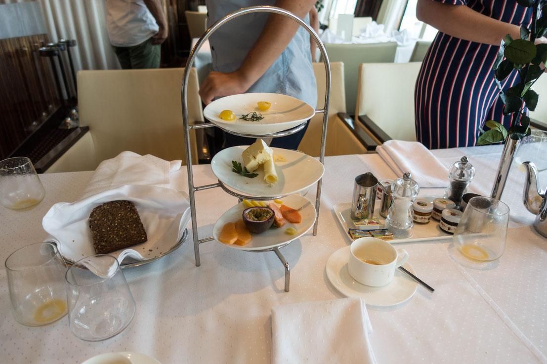 Frühstück im Gourmet-Restaurant Rossini // © Cruise Paper