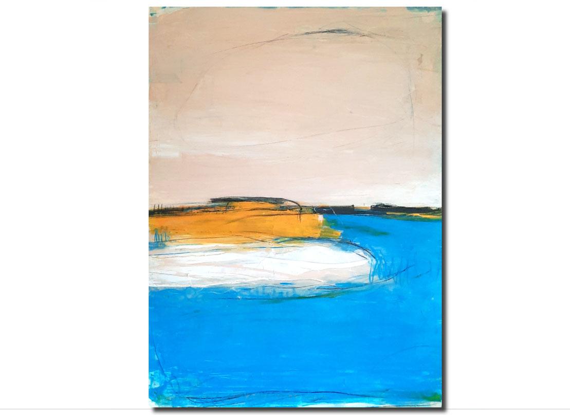 Meditativer Rundlug -blaues Bild