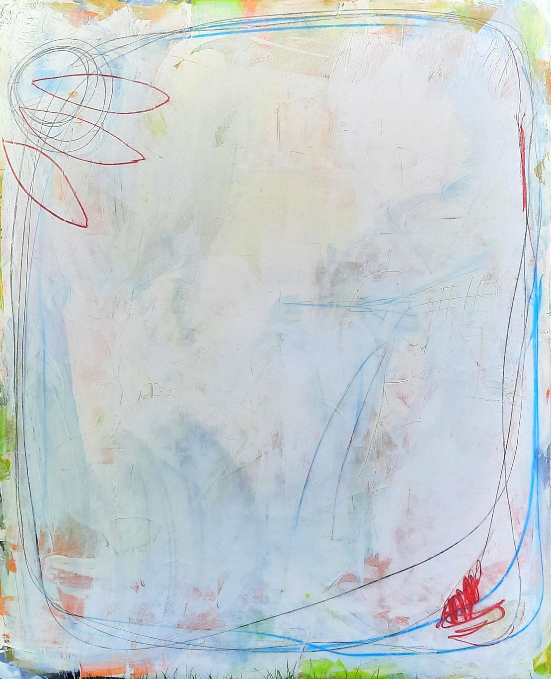 gemaltes Kunstwerk weiss hell pastell