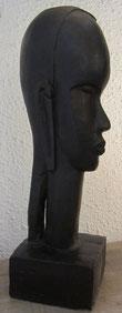 buste femme stylisé sculpture patine bronze
