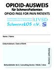 Opioid-Ausweis von UVSD SchmerzLOS e. V.