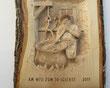 Reliefschnitzerei Käser am Chessi