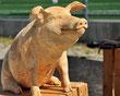 Schwein Holzskulptur Paul Widmer