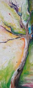 """Treelias"" - Acryl auf Leinwand 30x70"