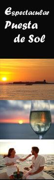puestas de sol en barcos Cadiz