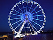 Brighton Wheel (UK) lighting up Blue