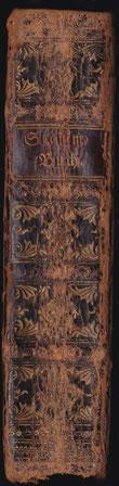 Buchrücken des Stammbuches