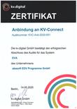 EVA Praxissoftware abasoft Zertifizierung KVV-Connect Zertifikat
