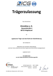 AZAV Zertifizierung der Fa. ZimmAteC