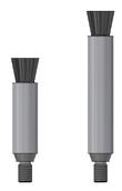 Pennello in fibra di carbonio misura XS e M filettatura M6