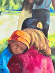 Kulturelles Kapital, Mutter mit Kind