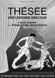 """Affiche du specacle de salon """"Thésée, une légende grecque"""""""