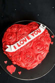 Heart I love you cake, heart valantines cake