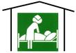 Grafik einer Pflegeperson mit Patient als Hinweise für die Auswahl eines Pflegeplatzes bei der Huntington-Krankheit / Chorea Huntington