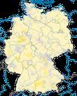 Karte zur Verbreitung des Baumfalkes (Falco subbuteo) in Deutschland