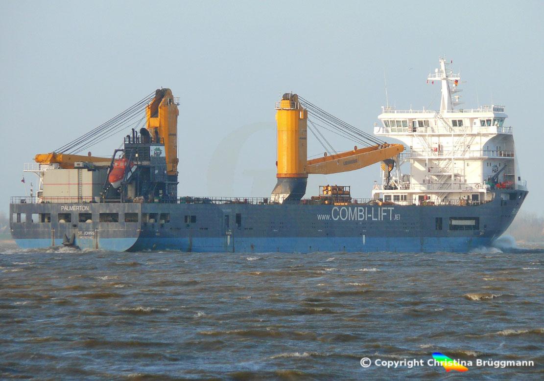 Frachter PALMERTON bricht Fahrt durch den Nord-Ostsee-kanal wegen Kanalprobleme ab.