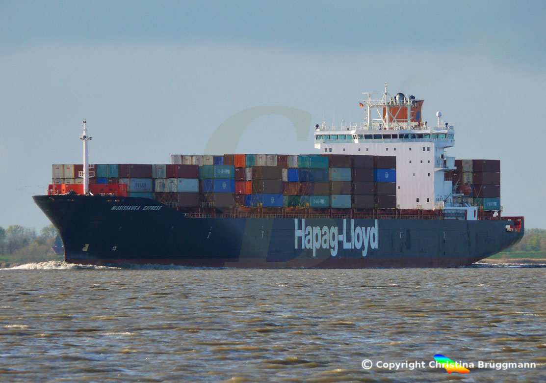 Hapag-Lloyd Containerschiff MISSISSAUGE EXPRESS
