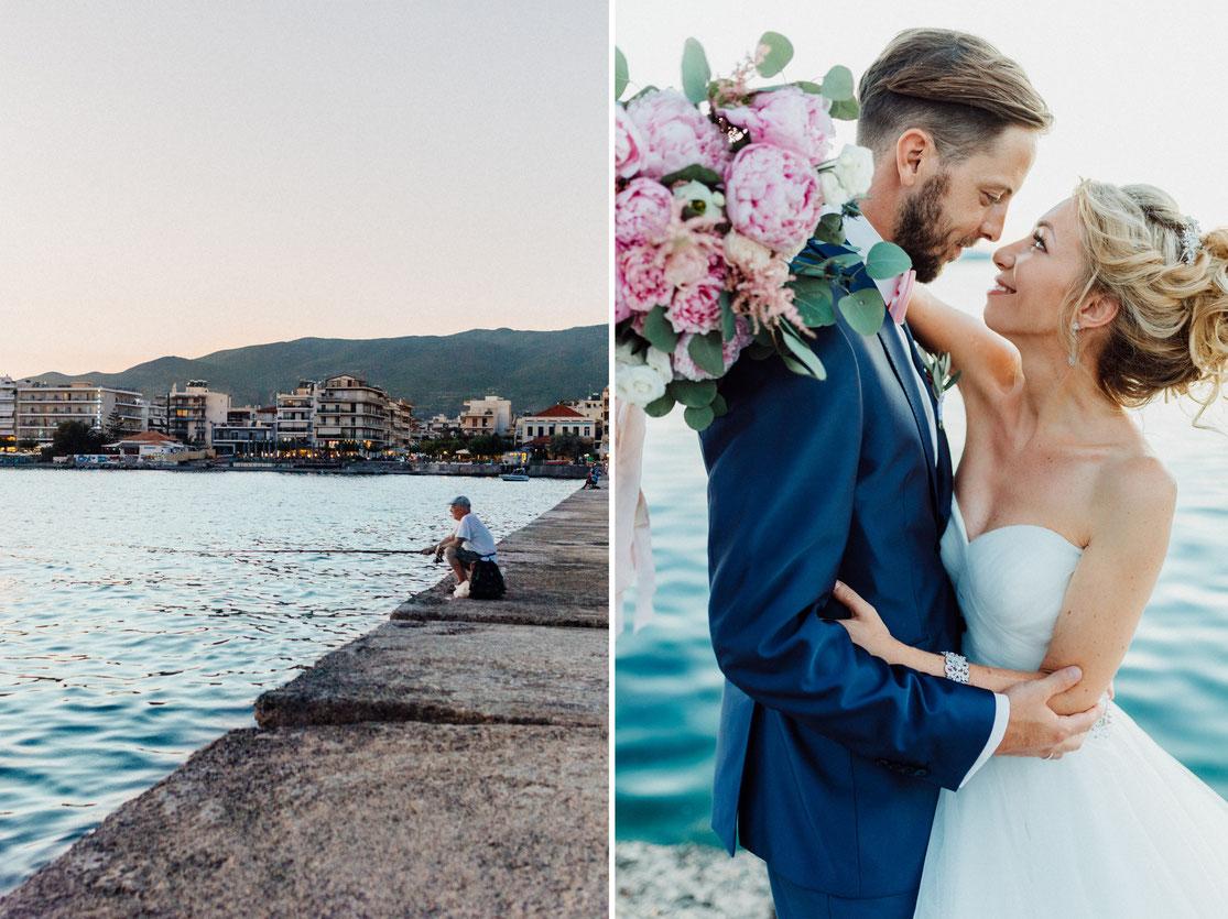 Brautpaar aus Bielefeld fotografiert in Griechenland