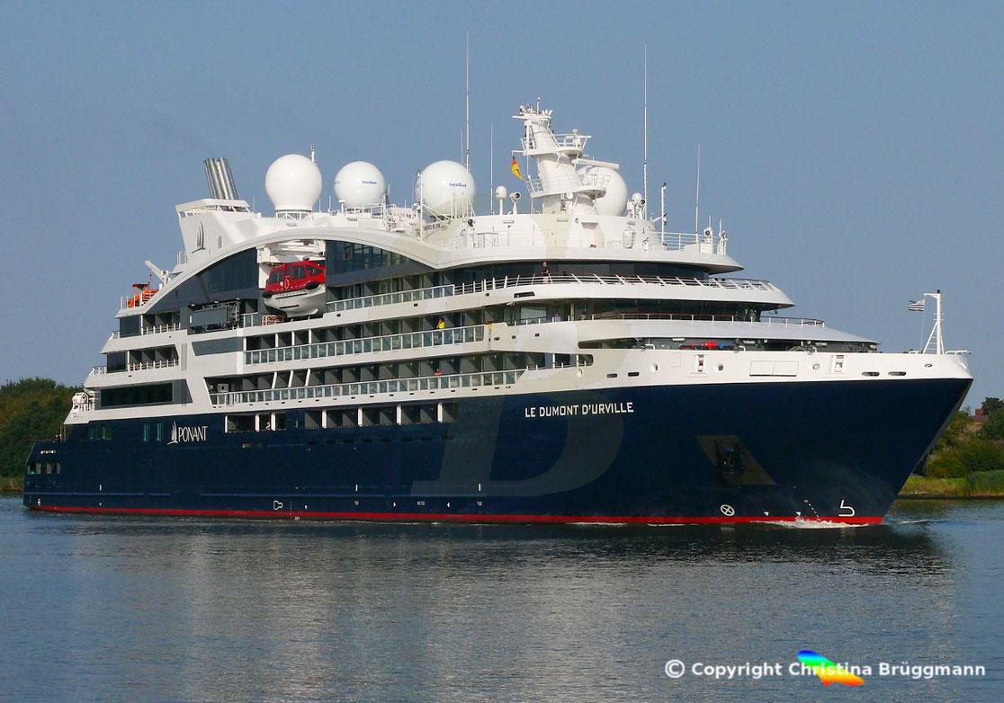 Ponant Kreuzfahrtschiff Le DUMONT D´URVILLE