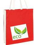 Baumwolltaschen mit Bodenfalte natur oder farbig - lange oder kurze Henkel
