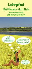Lehrpfad Bothkamp, Flyer mit Übersichtsplan