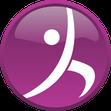 Fenia Mette, prevenzio, Yogafigur, violet, weiß