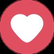Button Herz als Symbol für Vorteile der Seminar-Versicherung der ERGO
