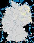 Karte zur Verbreitung des Kleinsumpfhuhn (Porzana parva) in Deutschland