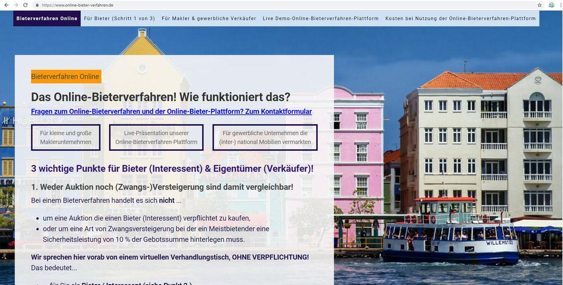 Bild Startseite https://www.online-bieter-verfahren.de/