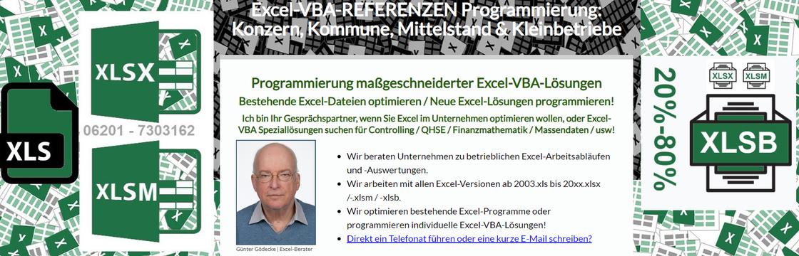 Bild Startseite Homepage https://www.excel-vba-programmierung.de.