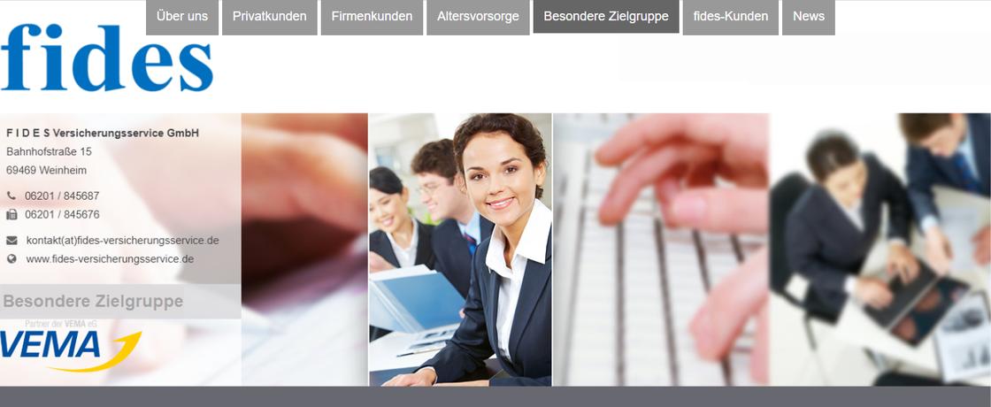 Bild Startseite https://www.fides-versicherungsservice.de