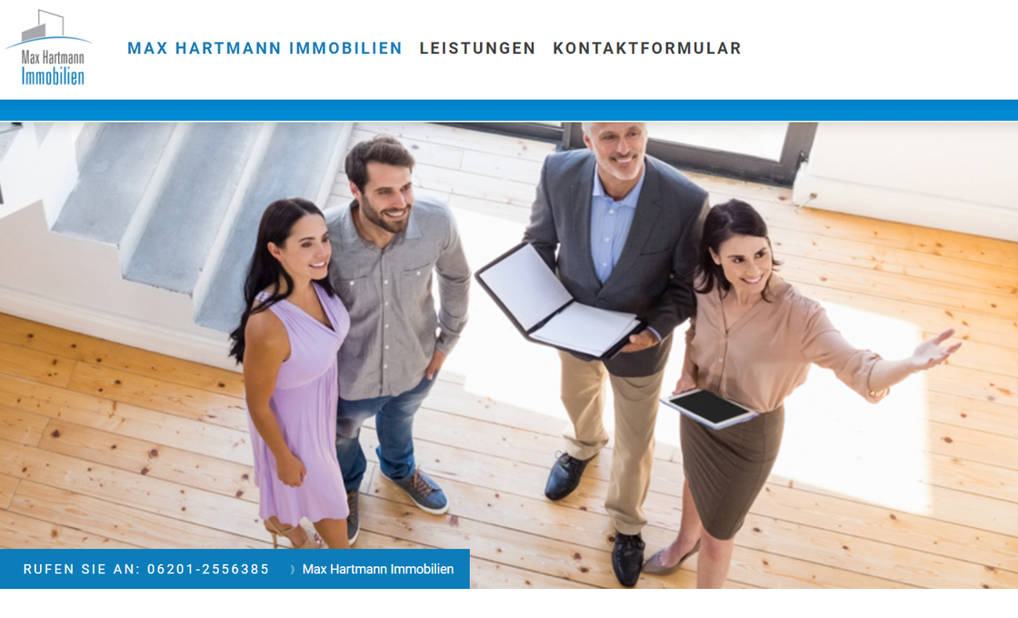 Bildauszug Startseite https://www.max-hartmann-immobilien.de