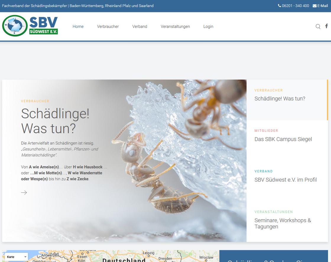 Fachverband der Schädlingsbekämpfer: SBV Südwest e.V. | Mehr Sehen und Lesen... Klicken Sie in das Bild!