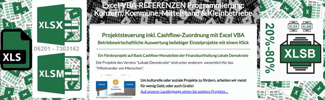 FÖRDERPROJEKT: Per Klick ins Bild Weiterleitung zu Seite Projektsteuerung inkl. Cashflow-Zuordnung mit Excel-VBA