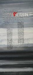 Handlettering, Acrylbild mit kalligrafischer Schrift (2), Rilke