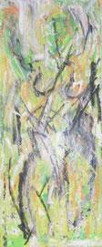 Sehn Sucht, Mischtechnik auf Leinwand, 40 x 95 cm, 2006